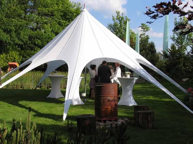 star tent bruiloft