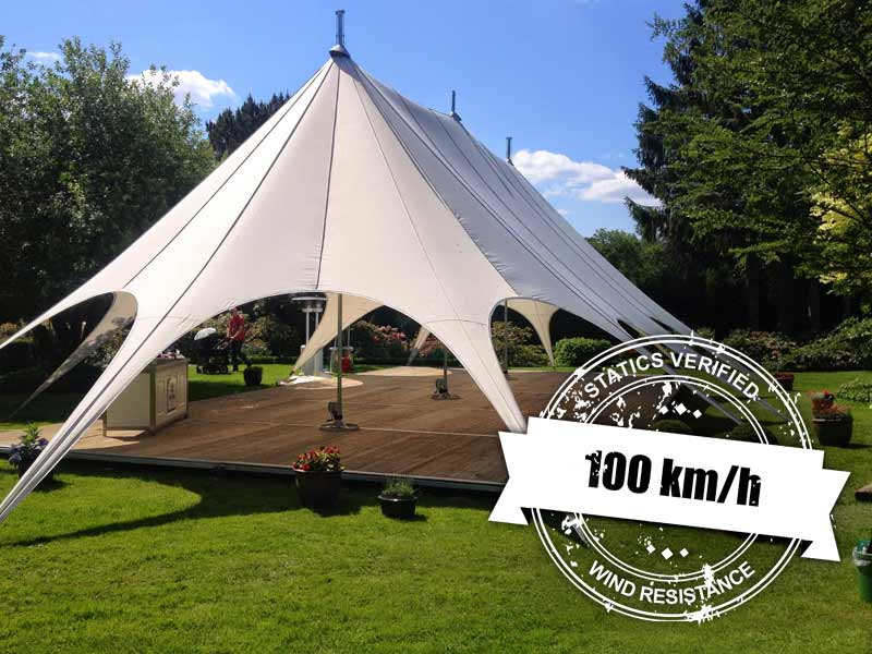 star tent bruiloft tuinfeest