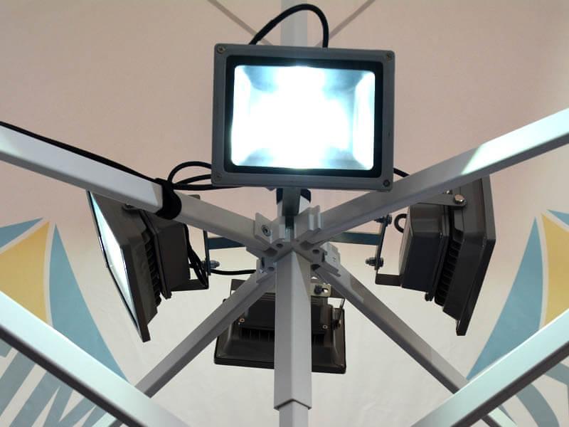 vouwtent - EXTRA - LED straallichten