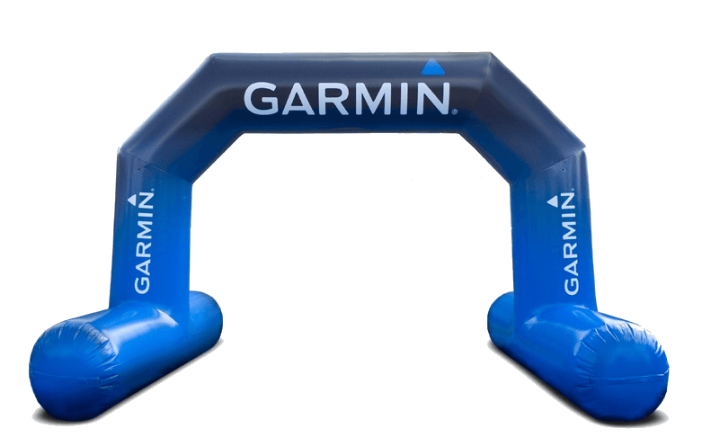 opblaasbare start finishboog Garmin