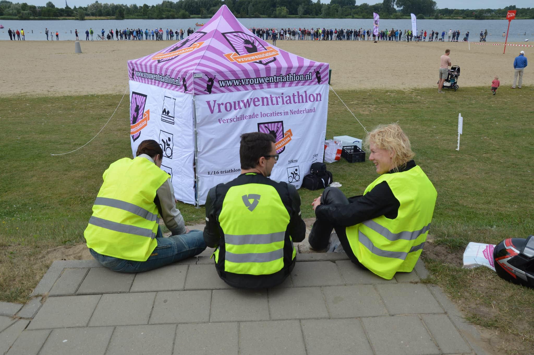 vrouwentriathlon - vouwtent - virtus for events-