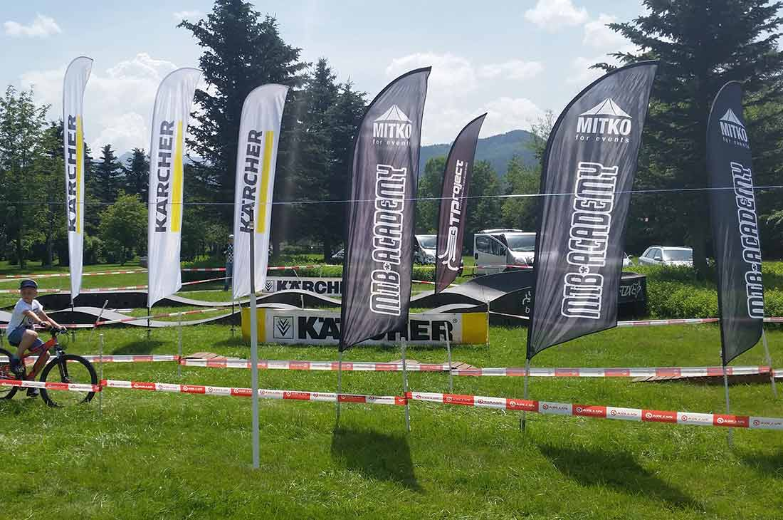 Beachflag Virtus For Events - Klant Karcher