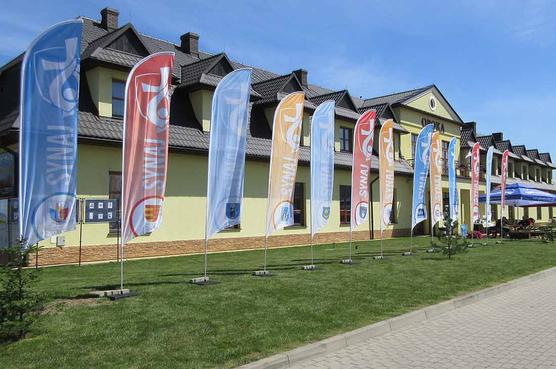 Beachflags Virtus For Events - Klant Synaj